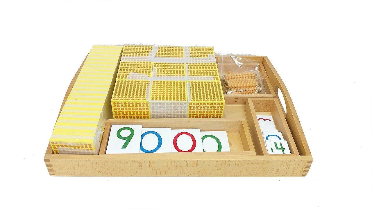 Montessori Decimal System Material Set W/ Number Cards by PinkMontessori by pinkmontessori (Image #2)