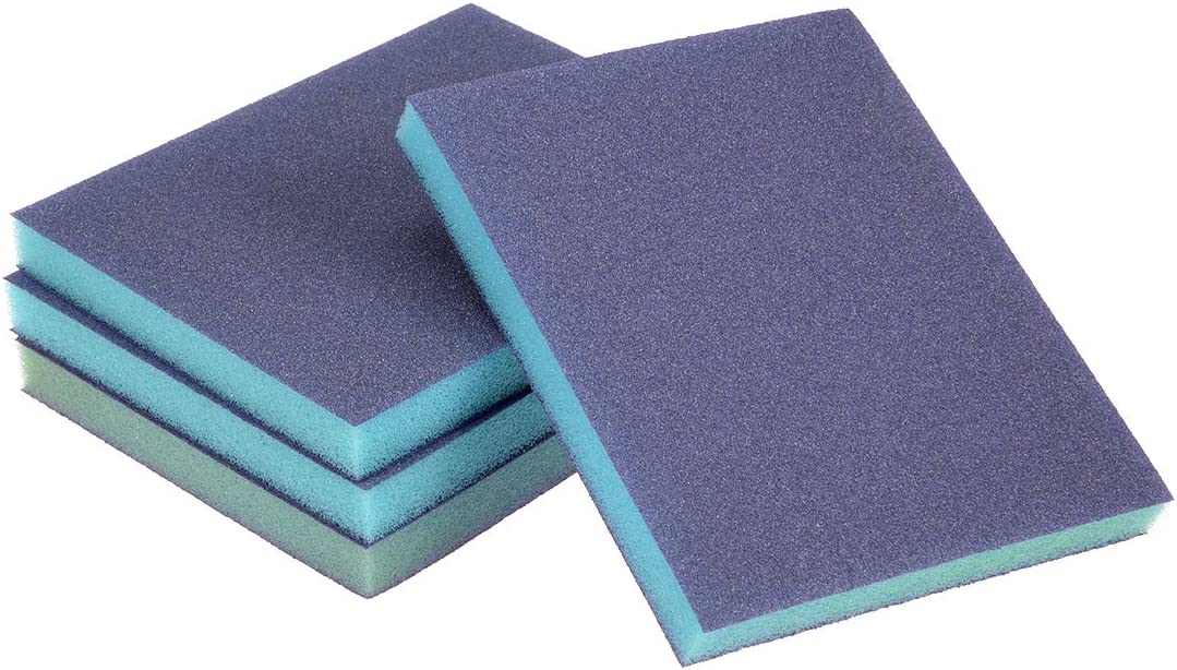 sourcing map Sanding Sponge Sanding Blocks 100-Grits Coarse Grit Sand Block Pad for Kitchen Metal Drywall Wood 4pcs