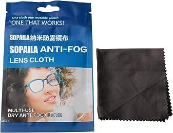 Camera Lenses IPad Phones Sopaila 4PACK Nano-Microfiber NO Wash Anti-Fog Reusable Wipe Clean Cloth for Eyeglasses