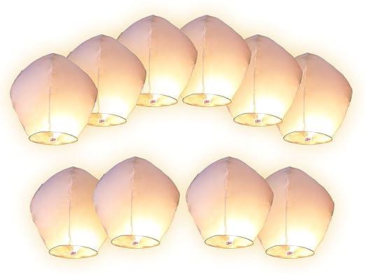 39 opinioni per 10 PZ Lanterne cinesi volanti bianchi Lanterna Cinese Volante del cielo bianca