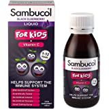Sambucol Kids Formula Black Elderberry Liquid with Vitamin C, UK Version, 120ml