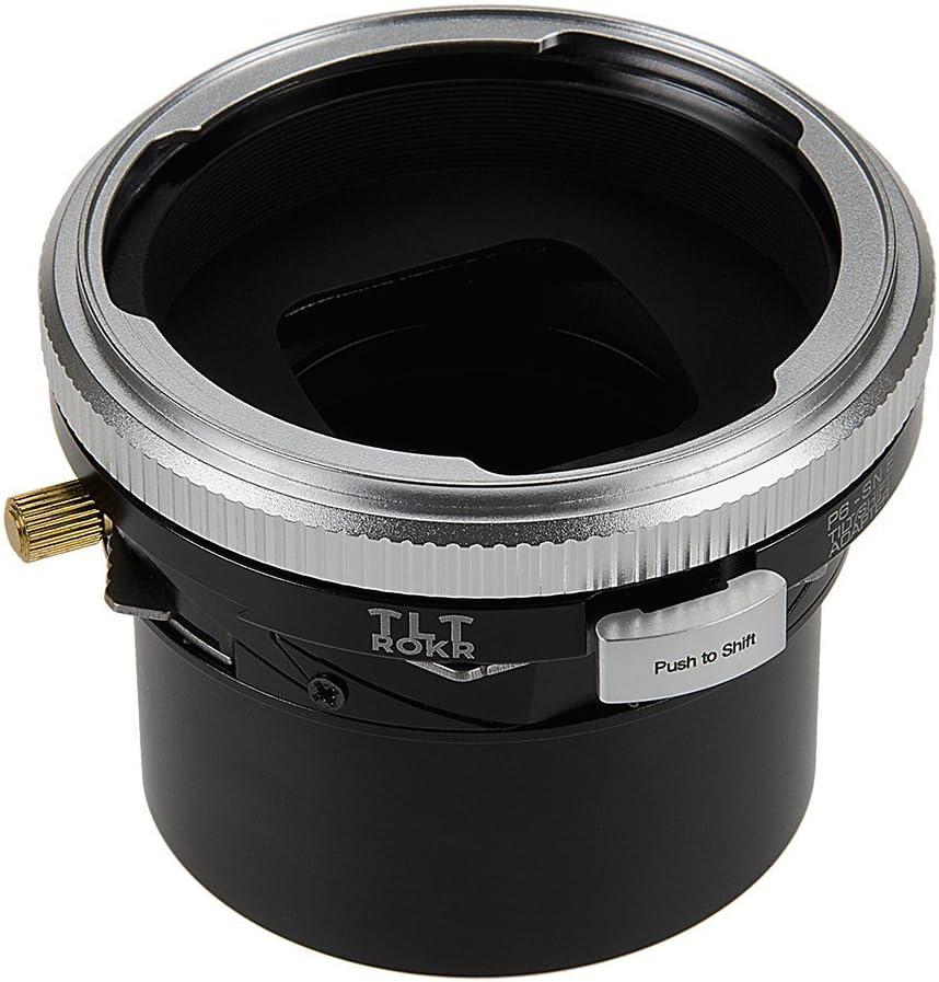 Fotodiox Pro TLT ROKR Tilt//Shift Lens Mount Adapter Compatible with Pentacon 6 SLR Lenses on E-Mount Mirrorless Camera Body Kiev 66