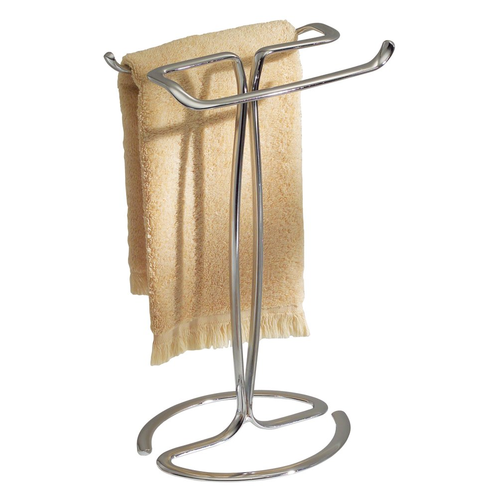 metal free shelf curved standing holder chrome stand tier towel rack