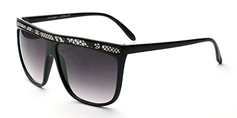 a4f1f9db3f8616 Image Unavailable. Image not available for. Color: Black Snake Retro  Vintage Flat Top Animal Print Women Men Rectangle Fashion Sunglasses