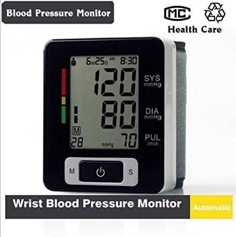 D&F TensióMetro De Brazo, LCD Digital PuñO Ajustable Inteligente De La MuñEca, Monitor De