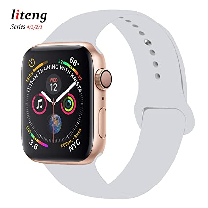 Amazon.com: LITENG Correa para reloj inteligente 38 mm 1.575 ...