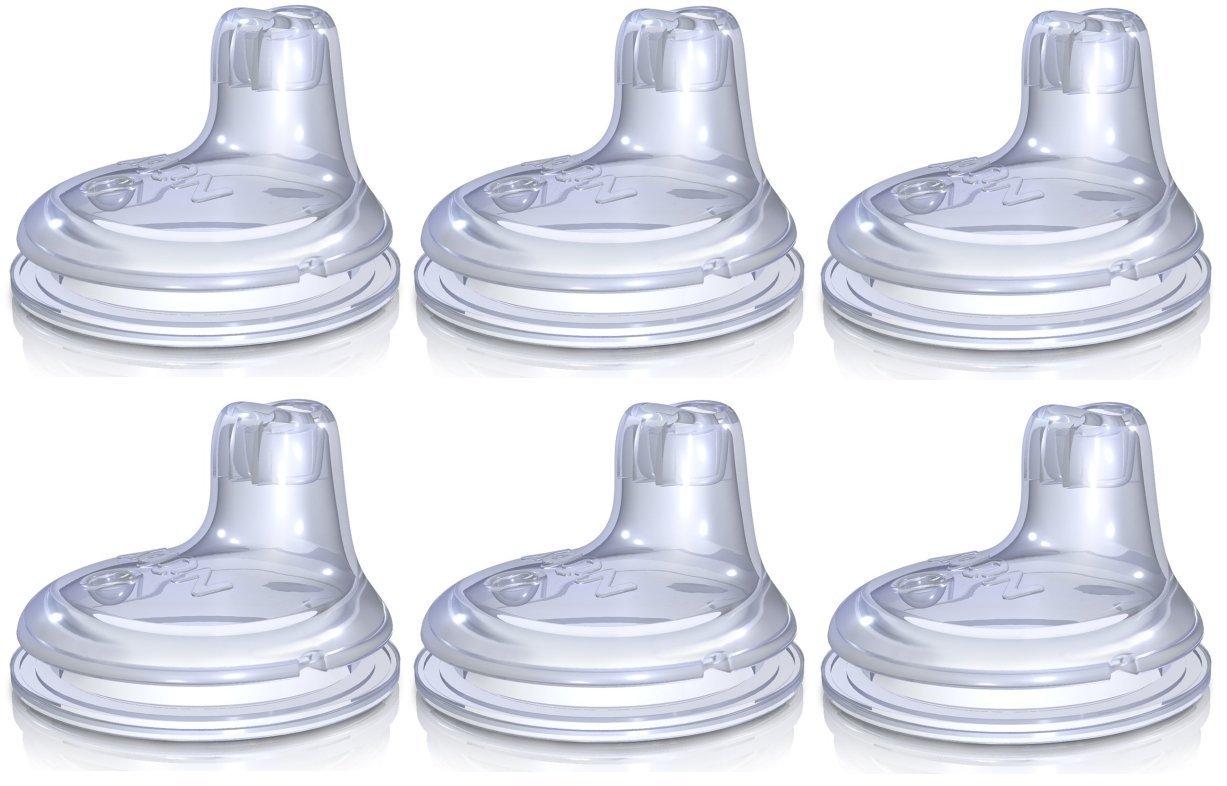 Nuby 6 Pack Replacement Silicone Spouts for the Nuby No Spill Easy Grip Cup by Nuby