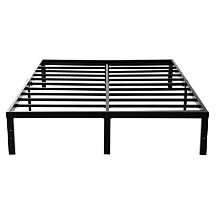 Noah Megatron 14 Inch Heavy Duty King Size Metal Platform Bed Frame/No Box  Spring