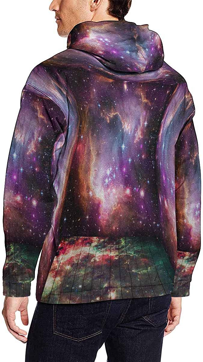 INTERESTPRINT Mens Stereographic Panoramic Projection of an Autumn Tree Hooded Sweatshirts