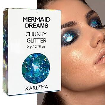 Amazon Com Mermaid Dreams Chunky Glitter Cosmetic Glitter