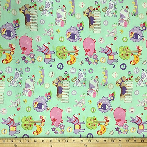 Cotton Printed Flannel Fabric 45