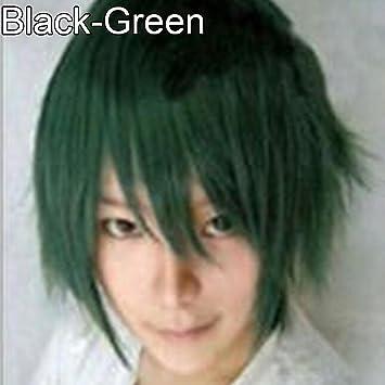 Amazon Com Yuye Men Women Multi Color Short Straight Hairpiece