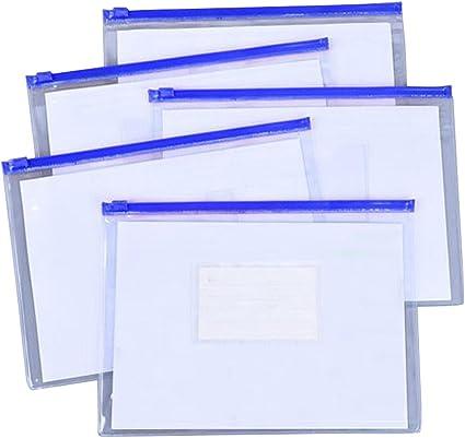 Carpeta de plástico A5 Portafolio de archivos transparente, 20 piezas [D]: Amazon.es: Oficina y papelería