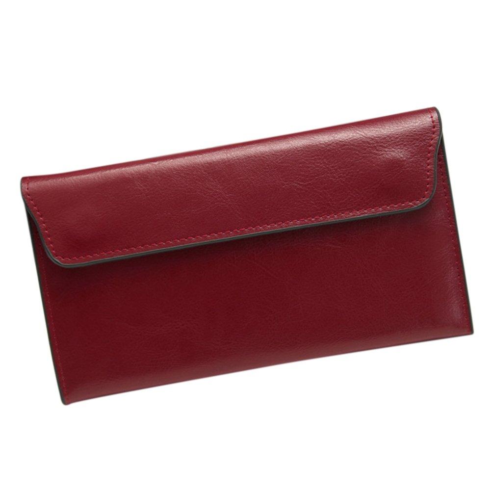 c2cc2ebee5a1 ShiningLove Fashion Genuine Leather Women Wallet Cowhide Long thin ...