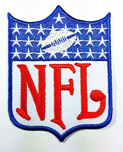 National Football Leagues NFL Logo Patch Embroidered Iron on Hat Jacket Hoodie Backpack Ideal for Gift/ 5.4cm(w) X 7.2cm(h)