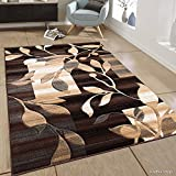 Allstar 8 X 11 Chocolate Transitional Block And Floral Design Area Rug (7′ 9″ X 10′ 5″) Review