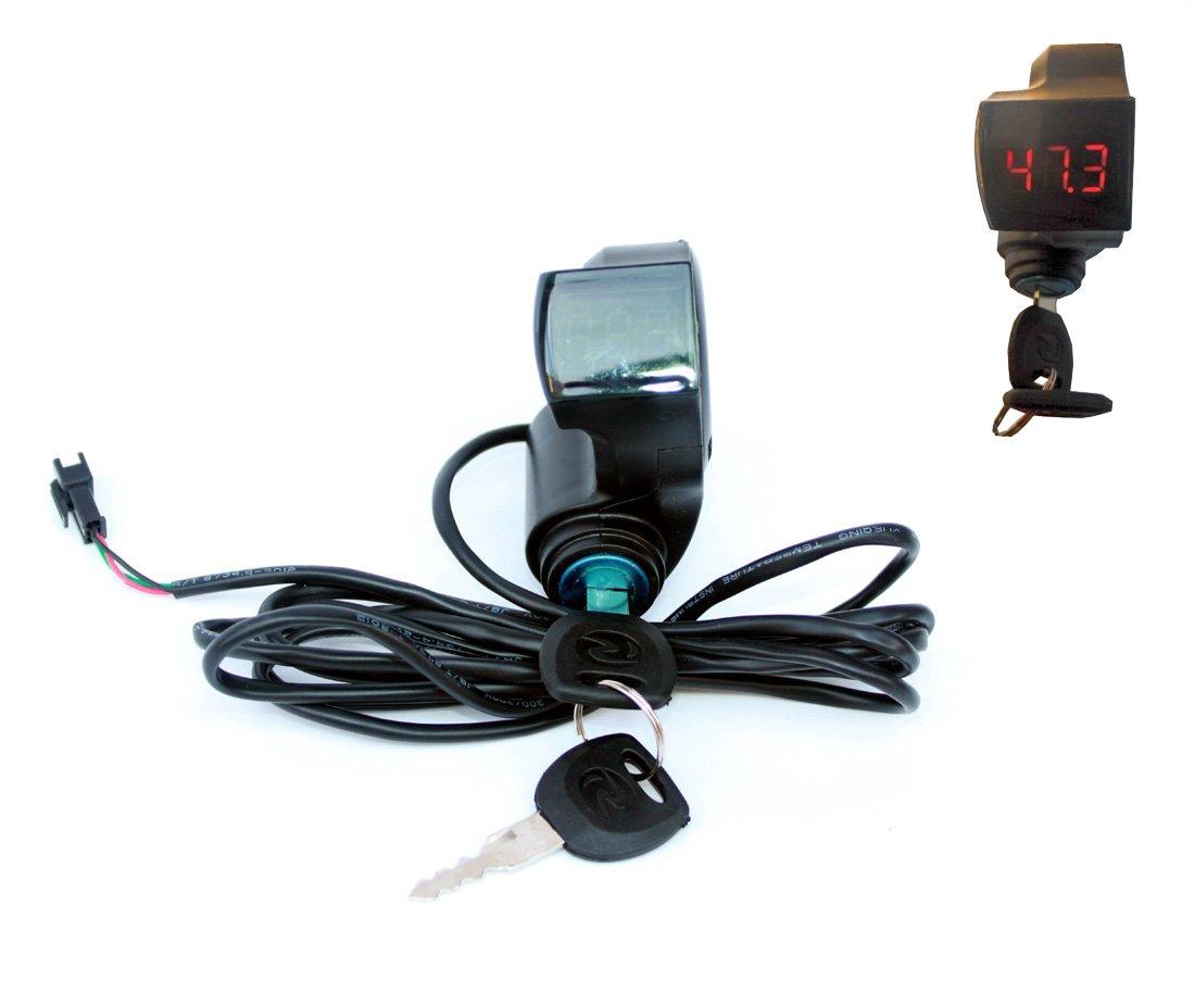 Controlador eléctrico de la bici Llave Cerradura Interruptor Exhibición Número De Voltaje De la Batería Batería Eléctrica Indicador De la Batería Y Acelerador Del Pulgar (Button and throttle) L-faster