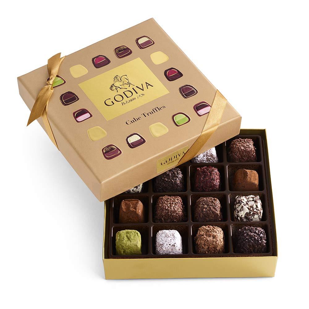 Godiva Chocolatier Assorted Chocolate Truffle Cube Box, Truffle Gift Box, Chocolate Treats, 19 pc by GODIVA Chocolatier
