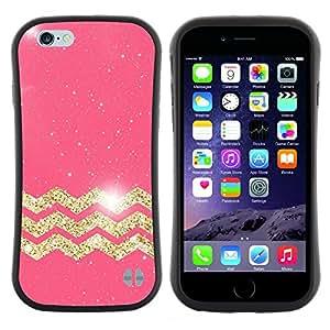 "Pulsar iFace Series Tpu silicona Carcasa Funda Case para Apple (4.7 inches!!!) iPhone 6 Plus / 6S Plus ( 5.5 ) , Patrón marroquí de Oro Pink Glitter"""