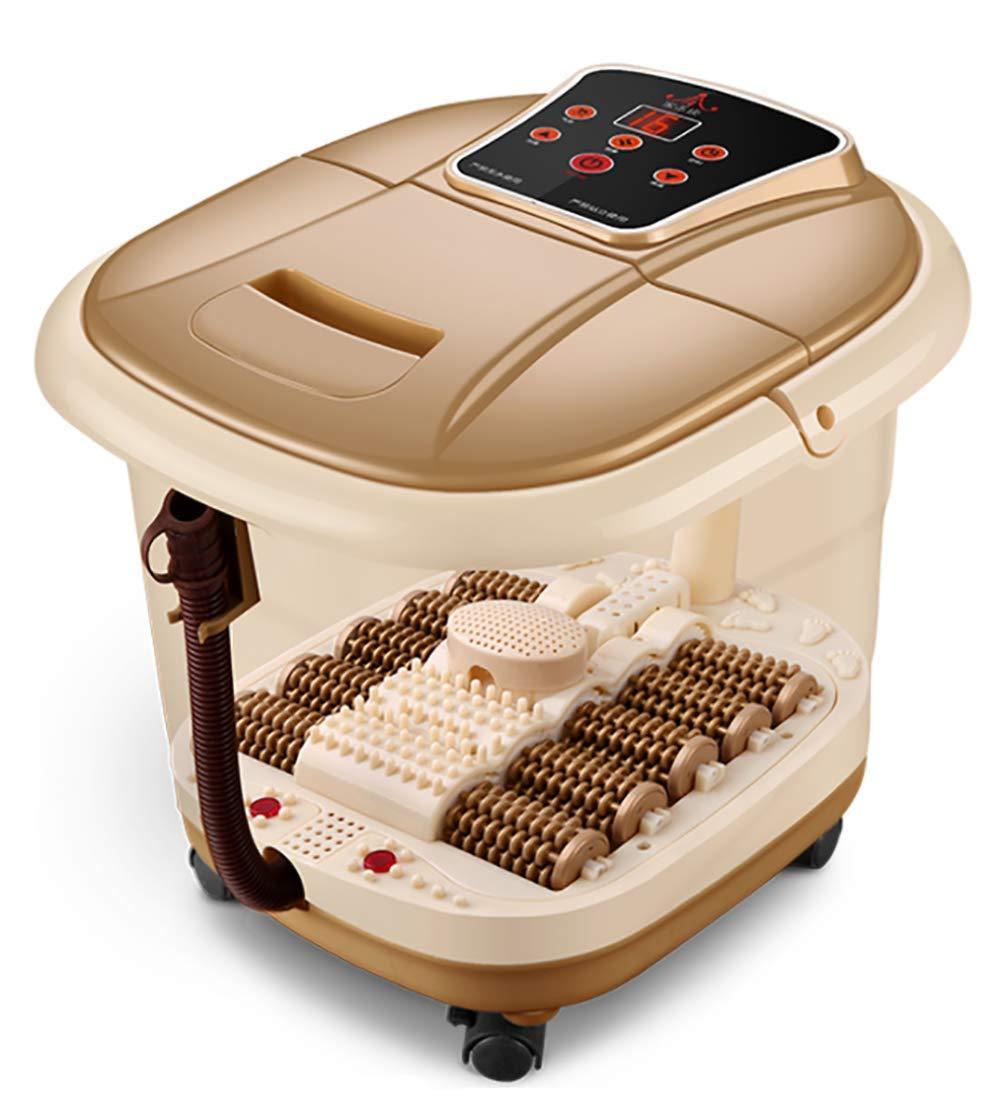 家庭用フットマッサージ機 温めた湿った水フットスパ10マッサージローラーペディキュア甘やかす足底筋膜炎のためのあなたの足 B07RV89JVQ