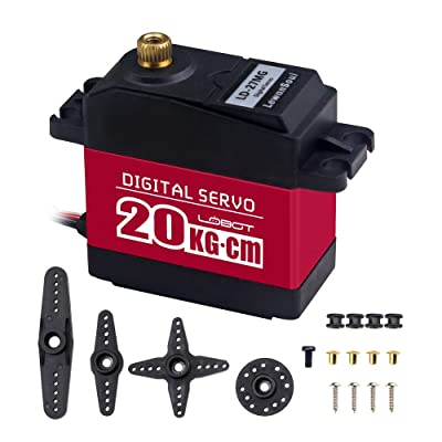Hiwonder LD-27MG Full Metal Gear Standard Digital Servo with 20kg High Torque, Aluminium Case for Robot RC Car(Control Angle 270): Toys & Games