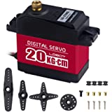 LewanSoul LD-27MG Full Metal Gear Standard Digital Servo with 20kg High Torque, Aluminium Case for RC Robot Car(Control Angle 270)