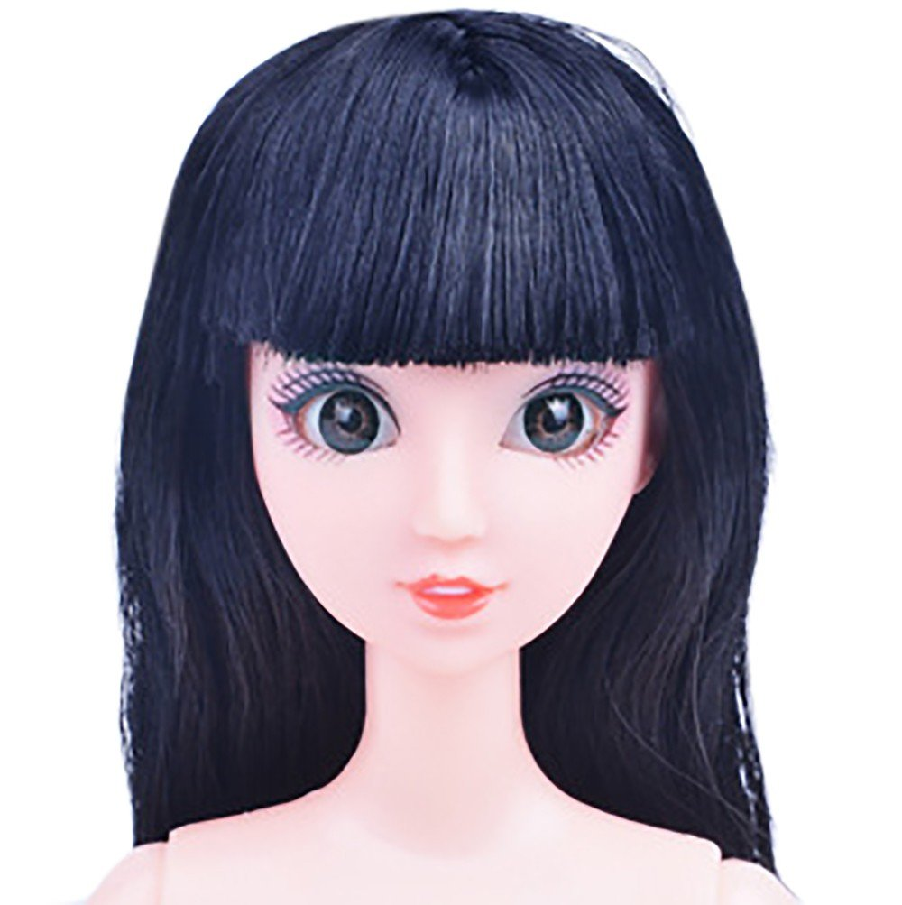 XEDUO Lifelike Christmas Dolls Washable Soft Nude Doll with Head 12 Joint Moving Naked Bodies DIY Toys Accessories Gift Girl