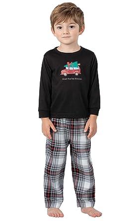 262e77dade31 Amazon.com  PajamaGram Toddlers  Flannel Classic Plaid Pajamas with ...