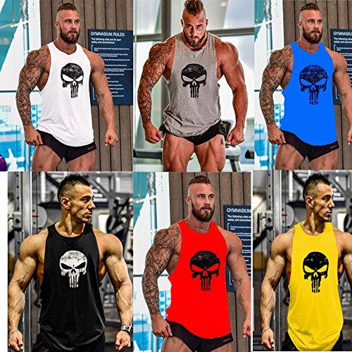 Mens+Tank+Tops Products : New Fi Men's Bodybuilding Fitness Stringer Tank Top Sport Gym Sleeveless Vest
