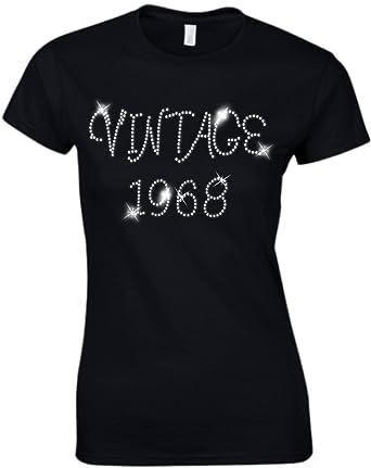 RBS Printing Vintage 1968 Ladies Fitted T Shirt
