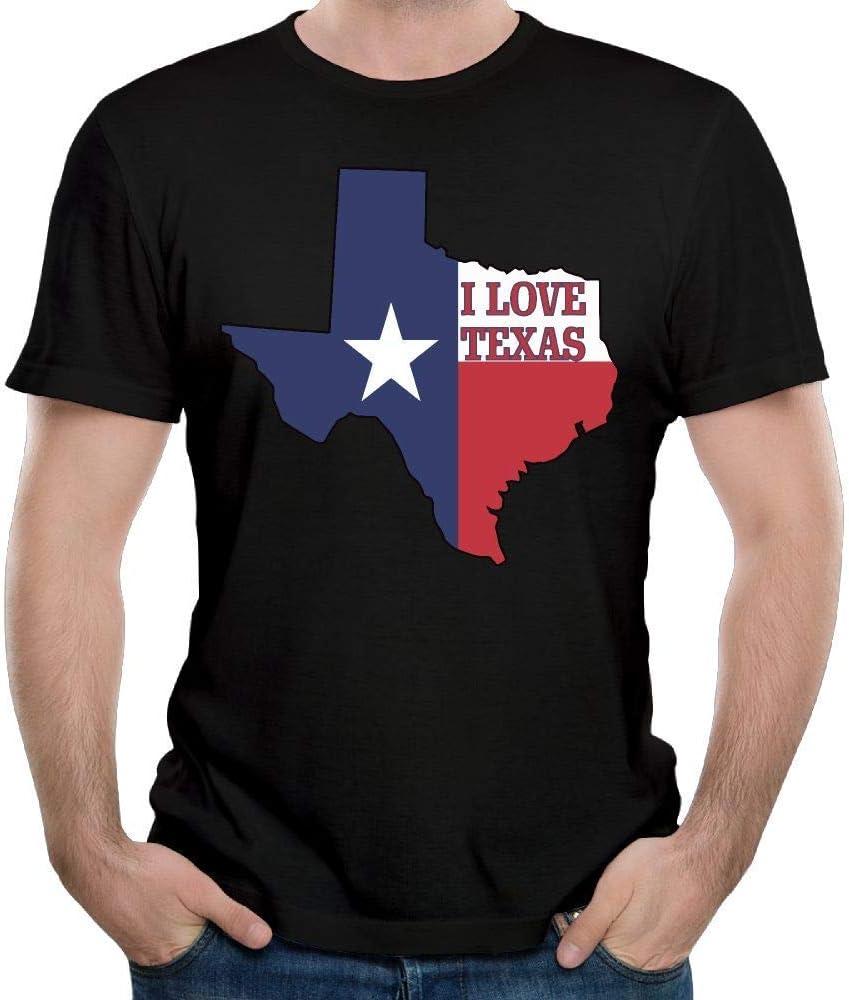 I Love Texas Texan Flag Nuevo Camiseta de Manga Corta para Hombre Top de Verano para Hombre L: Amazon.es: Ropa y accesorios