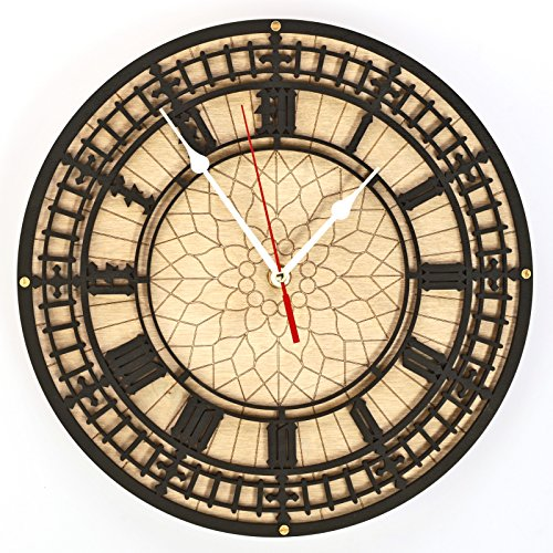 BIG BEN Handcrafted large wooden wall clock 45см Unique Vintage large housewarming one-of-a-kind victorian home decor gift london tower england