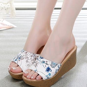 Sommer Pantoffeln Sandalen Weibliche Muffins Hausschuhe Outdoor Piste mit Mode cool Hausschuhe Weibliche dicke...