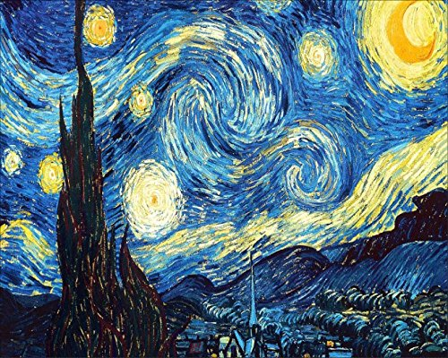 YEESAM Art New Diamond Painting Full Drill 5D Kits - Starry Night by Vincent Van Gogh 3025 - DIY Crystals Diamond Rhinestone Painting Pasted Paint by Number Kits Cross Stitch Embroidery -