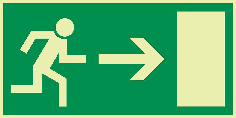 Cartel salida de emergencia Flecha derecha langnachleuchtend ...
