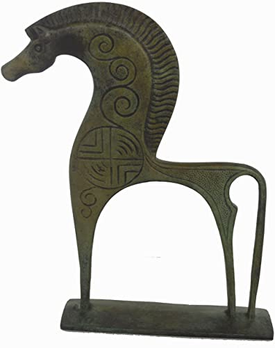 Horse with great mane statue ancient Greek bronze reproduction sculpture