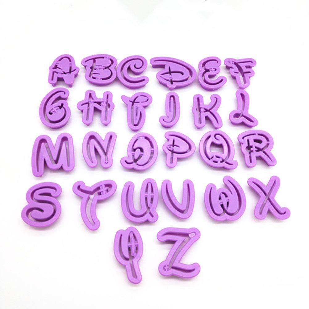 Molde para Fondant Outtybrave Molde Decorativo para Tartas 26 Letras