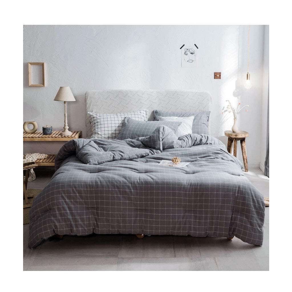 ファッション格子の秋と冬の厚いキルト暖かいソフトダブルパーソナルコアベッドルームのホステルのベッドのライニングを保つ (色 : Gray, サイズ さいず : 200×230cm(3.7kg)) B07MLJMP76 Gray 200×230cm(3.7kg)