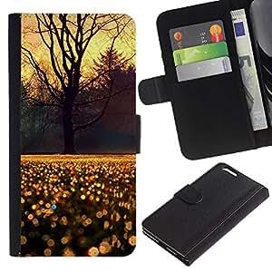 For Apple iPhone 6 Plus(5.5 inches),S-type® Sky Tree Rain Morning Sunrise - Dibujo PU billetera de cuero Funda Case Caso de la piel de la bolsa protectora