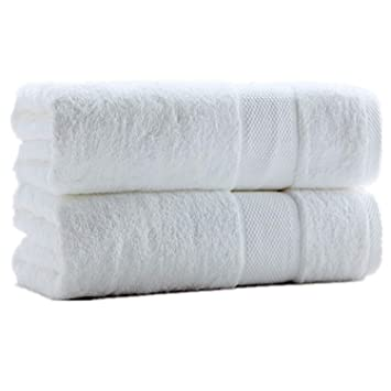 SUMC Serviettes de bain 600GSM coton serviettes de bain ensemble de ...