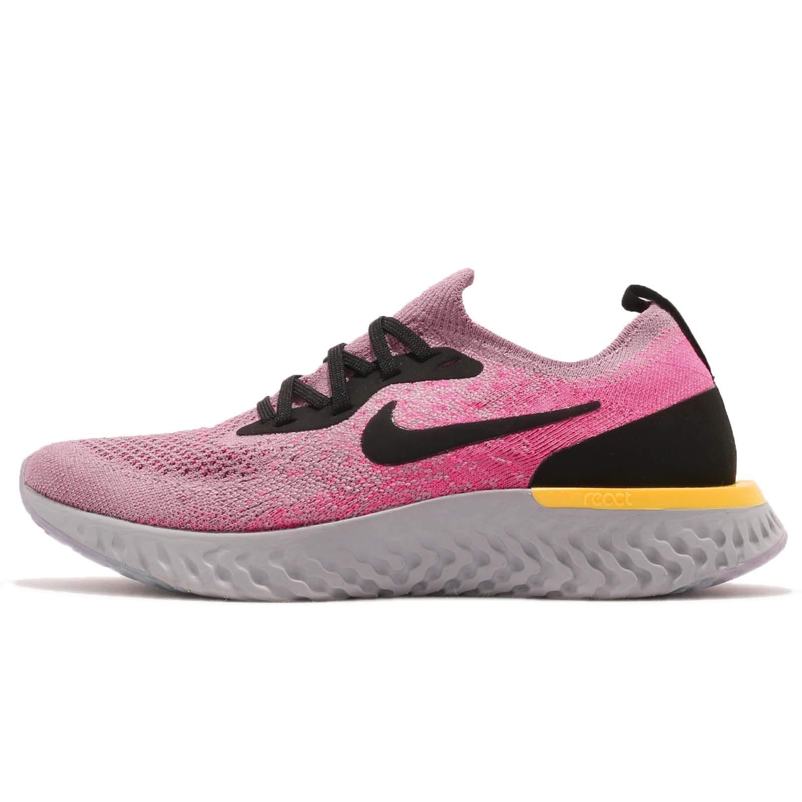 Nike Kid's Epic React Flyknit GS, Plum DUST/Black-Pink Blast, Youth Size 6