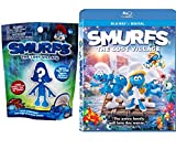 The Smurfs Mini Figure & The Lost Village Blu Ray Animated Movie with Special Features / Blind Bag