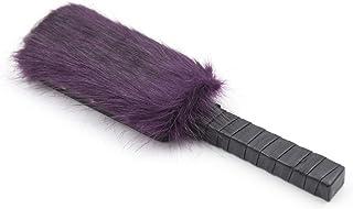 Amosfun cuir peluche fourrure fouet slapper Tickler pour fessée Flirting Paddle Fetish Flogger fouet Cosplay pour les couples amoureux (Violet)