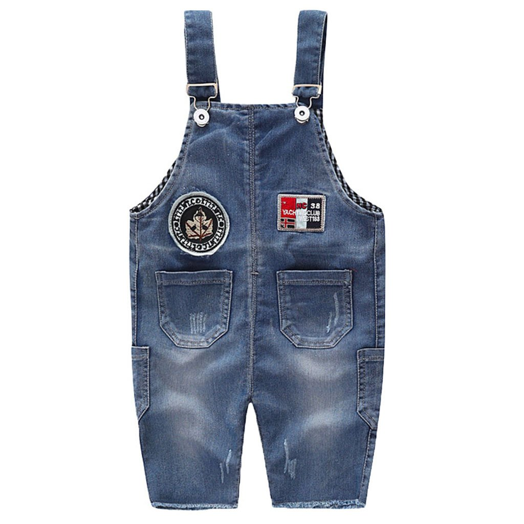 Baby Dungarees Denim Shortall Jeans Boys Girls Bib Overalls Jumpsuit Toddler Shorts Trousers