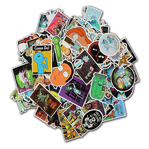 Rick And Morty stickers-135 Pcs Xawy Laptop Stickers Motorcy