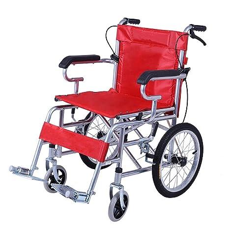 Silla de ruedas de acero: plegable ligera for silla de ...