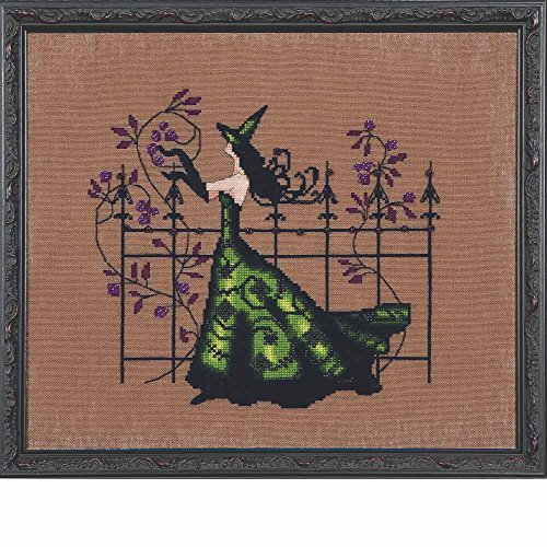 (Mirabilia Gwen LINEN Kit Beaded Counted Cross Stitch by Nora Corbett Designs NC220 Bewitching Pixies (Bundle: Chart, Fabric, Beads))