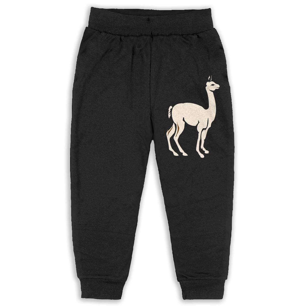 Fleece Active Joggers Elastic Pants DaXi1 Alpaca Sweatpants for Boys /& Girls