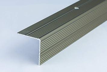 Perfil de doble cara para escalera de 30 x 30 mm – 0,9 m (35,43 pulgadas) de aluminio anodizado, antideslizante, perforado, 30RR TMW: Amazon.es: Bricolaje y herramientas