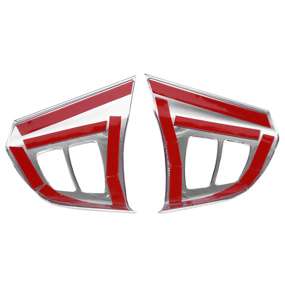 Chrome Steering Wheel Button Frame Cover Trim Stickers for BMW X5 E70 2008-2013